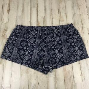Lucky Brand Womens Lounge Shorts XL Blue